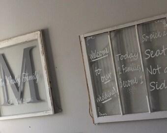 Custom Vintage window pane