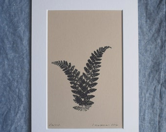 Original monoprint: Ferns