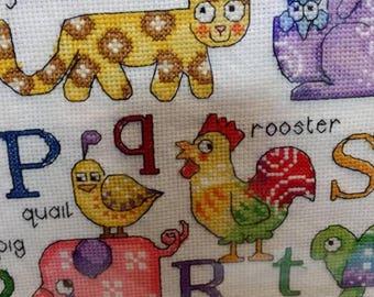 Alphabet cross stitching picture