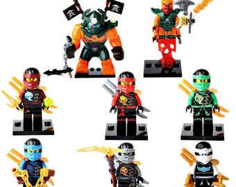 8 Ninjago figures Dogshank Nadakhan Nya Cole Kai Jay Lloyd Zane