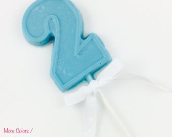 Number 2 Chocolate Lollipop || more colors available