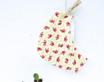 Drool drool bib scarf yellow flowers, yellow flowers, bandana