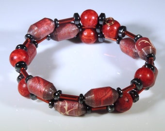Power Color Combo (Upcycled Paper Bead Bracelet/SB0006)