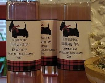 Peppermint Pups Rosemary Clove Odor Neutralizing Dog Shampoo