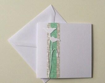 Handmade greeting card with flower