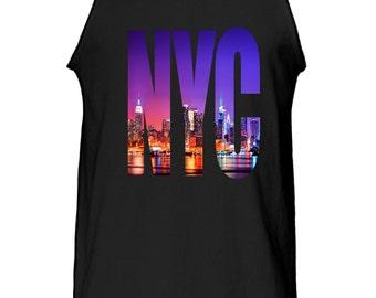 New Men's Digital printed New York NYC Cotton Tank Top