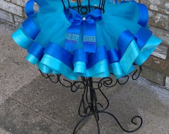 Blue Ribbon Trim Tutu
