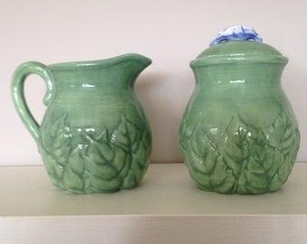 Portmeirion Studio DUET Series Blue Green Creamer and Sugar Dish