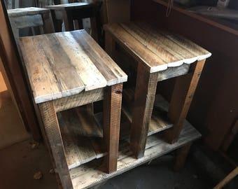 Barn wood night stands