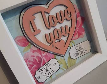Personalised Couples I Love You Frame