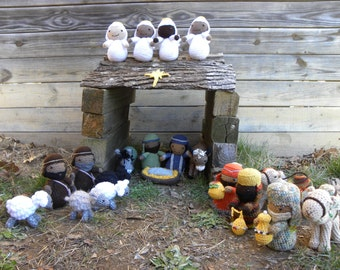 Complete Nativity Scene Crochet Pattern by Elizabeth Dolezal