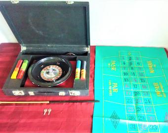 Vintage ROULETTE SET In Brief Case + Keys COMPLETE
