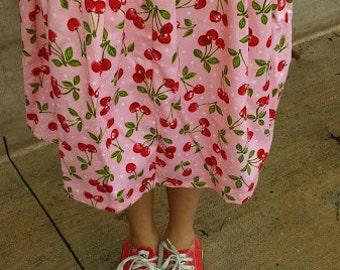 Summer cherry skirt