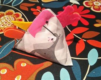 Handmade fabric chicken - Juggling bean bag