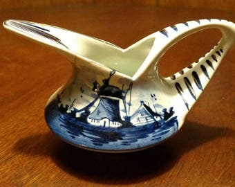 Delft Blue Hand Painted  Creamer