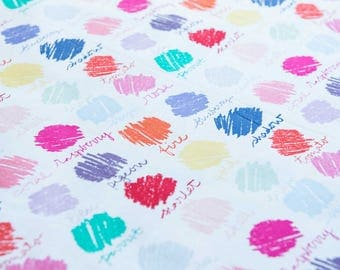 Dear Stella Color Swatches in Rainbow sold by the 1/2 meter