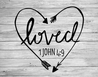 Loved Arrow Heart