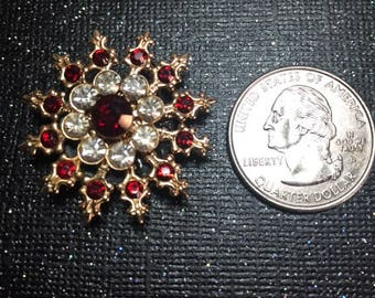 Glam Vintage Red Crystal Jewelry Magnet