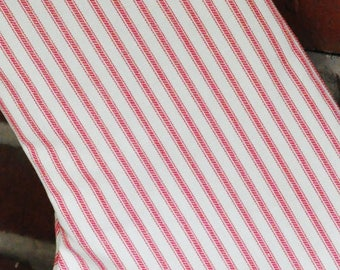 Azalea and Ivory (Pink and Cream) Ticking Stripe Fabric by Premier Prints no.016