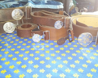 7 Vintage Scouts Canada and Cub belts - only 1/2 buckles