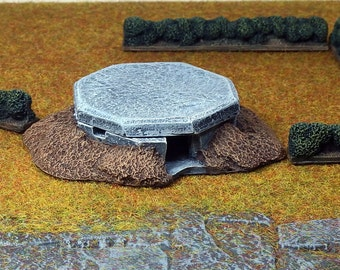10mm Scenery machine gun bunker x1 - Painted