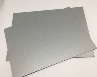 Silver Envelope and Flatcard set  / Card Stock  / Card Making  / Paper Stock / silver envelopes / silver flat notecards / notes