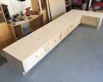 Banquette/Bench with Big Storage Drawers