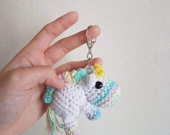 Amigurumi Unicorn Keychain, Bag / Zipper Charm
