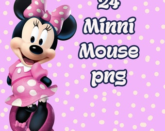 Minni mouse | clip art | nursery decor | party invitations | birthday invitations | birthday party decor | girl decor | boy decor