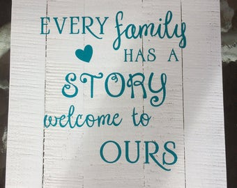 "Every Family Story.. 14 1/2"" x 10 3/4"""