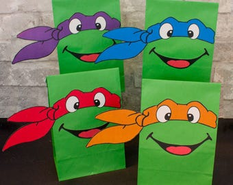 Tmnt favor bag | Etsy
