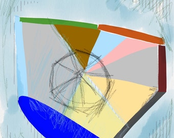 Art Book contemporary geometric digital prints #11