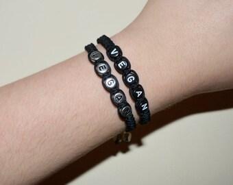 Black Vegan Bracelet