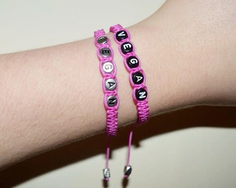 Hot Pink Vegan Bracelet