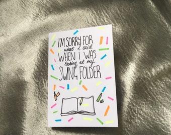 SWING FOLDER CARD