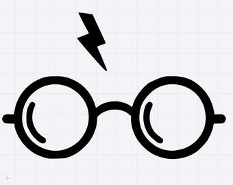 Harry Potter Glasses And Scar , Harry Potter Scar, Harry Potter Books, Glasses with Scar, yeti decal - sticker window - window decal