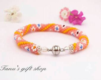 Multicoloured colourful bracelet