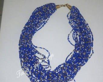Open Chunky Maasai beaded necklace