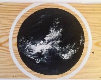 Acrylic on wood, plank 19.5 x 32.5 cm