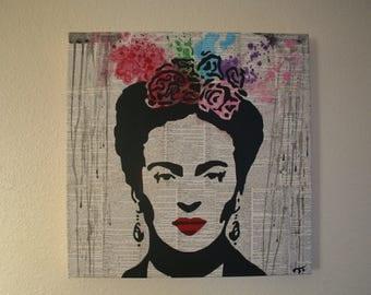 """Frida Kahlo- Original 20""""x20"""" canvas art"""