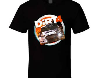 Dirt 4 Men's T-Shirt (Black, Orange, New, Gaming, Gamer T-Shirt, Tee)
