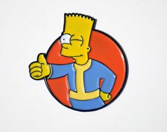 Vault Bart Pin Badge
