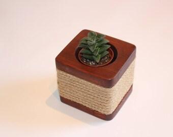 Wooden planter box
