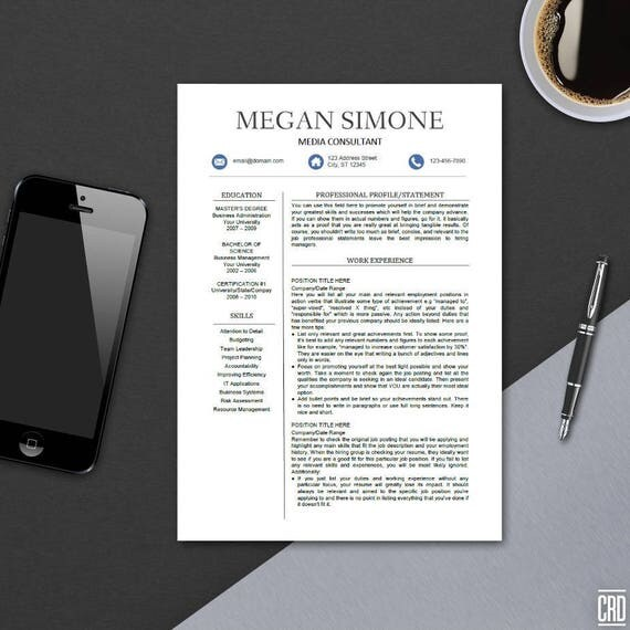 modern resume template for ms word professional cv design