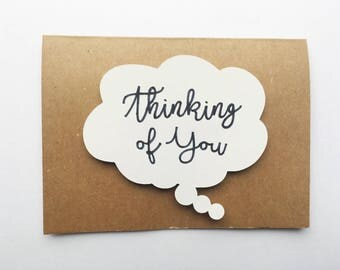 Handmade Thinking of You Card - Thinking Cloud - 3D - Cardstock