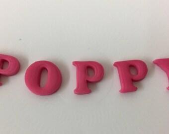Sugarpaste Letters - Fondant Letters - Fondant Numbers - Edible Cupcake Topper - Edible Cake Topper - Edible - Ages - Fondant Alphabet