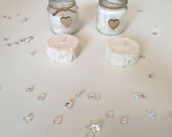 Hand made soy candles - vanilla and jasmine