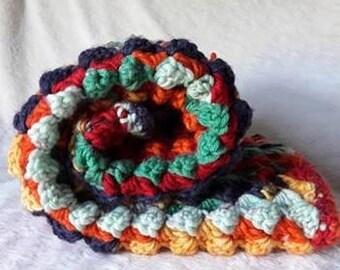 Autumn Colours Crochet Baby Pram Blanket