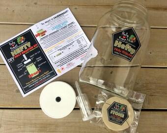 1 Gallon Fermentation Jar Kit - Sauerkraut, Kim Chi, Lactofermentation, fermentation