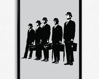 Monty Python Art Print - Super Detailed Giclee Print of Classic British Comedy Troupe Monty Python - Multiple Sizes and Colors